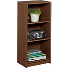 more details on Maine Half Width Small Extra Deep Bookcase - Walnut Effect.