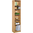 more details on HOME Maine Half Width Tall Extra Deep Bookcase-Beech Effect.