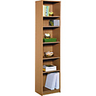 more details on HOME Maine Half Width Tall Extra Deep Bookcase - Oak Effect.