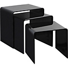 more details on Hygena Mistral Nest of 3 Tables - Black.