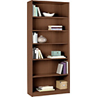 more details on HOME Maine Tall and Wide Extra Deep Bookcase - Walnut Effect