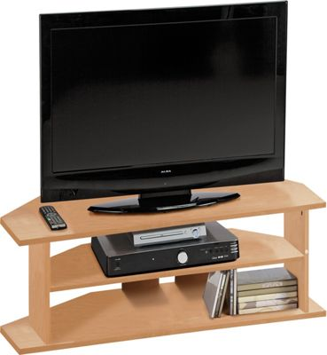 Argos Value Range Large Corner TV Unit Beech Effect