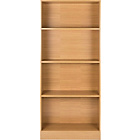 more details on HOME Maine Tall Extra Wide Deep Bookcase - Oak Effect.