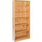 more details on Maine Tall Wide Extra Deep Bookcase - Pine Effect.