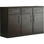 more details on Anderson 3 Door 3 Drawer Sideboard - Black.