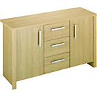 more details on HOME Bailey 2 Door 3 Drawer Sideboard - Oak Effect.