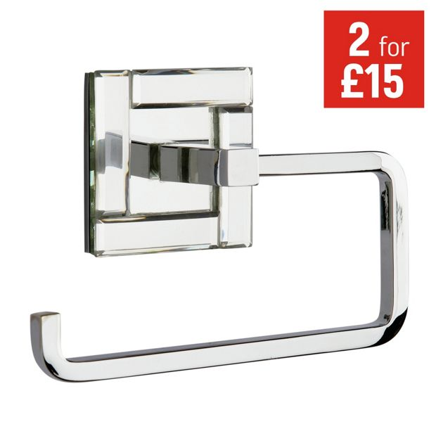 Buy collection facet toilet roll holder at for Bathroom accessories argos