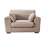 more details on Collection New Ashdown Fabric Cuddle Chair - Taupe.