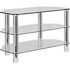 more details on Hygena Matrix 3 Shelves TV Entertainment Unit - Clear Glass.