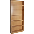 more details on HOME Maine Tall Wide Bookcase - Beech Effect.