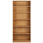 more details on HOME Maine Tall and Wide Extra Deep Bookcase - Beech Effect.