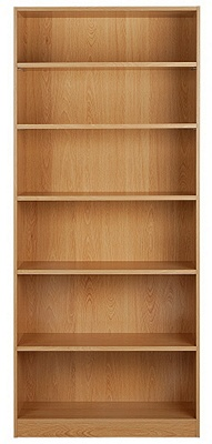 Buy HOME Maine Tall and Wide Extra Deep Bookcase - Beech ...