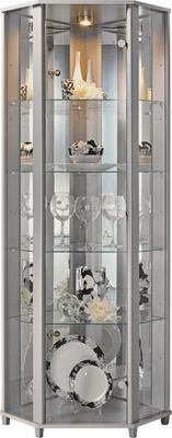 Buy HOME Corner Glass Display Cabinet Silver Effect at  : 6132288RSETTMBampwid620amphei620 from www.argos.co.uk size 620 x 620 jpeg 32kB
