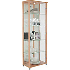 more details on Double Glass Door Display Cabinet - Beech Effect.