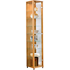 more details on Single Glass Door Display Cabinet - Light Oak Effect.