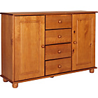 more details on Rio 2 Door 4 Drawer Sideboard - Solid Pine.