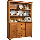 more details on Rio 2 Door 4 Drawer Display Cabinet - Solid Pine.