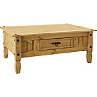 more details on Aruba 1 Drawer Coffee Table - Light Solid Pine.