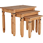 more details on Aruba Nest of 3 Tables - Light Solid Pine.