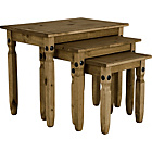 more details on Aruba Solid Pine Nest of Tables - Dark.