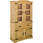 more details on Aruba 2 Door Display Cabinet - Light Solid Pine.