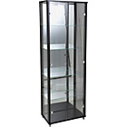 more details on Double Glass Door Display Cabinet - Black.