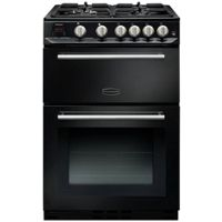 Rangemaster CLAS60NGFBLC Classic 60cm Gas Cooker (Black and Chrome)