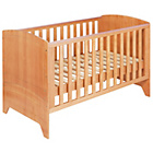 more details on BabyStart Oxford Cot Bed - Pine with Oak Finish.