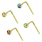 more details on My Body Candy 9ct Opal Nose Studs - Set Of 4.