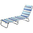 more details on Folding Sunbed - Blue Striped.