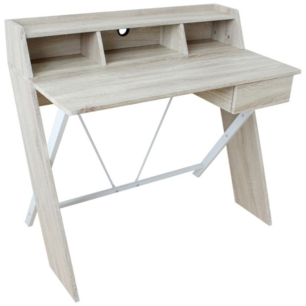 Buy Home Two Tone Desk Blackboard Metal Oak At Your Online Shop For Desks