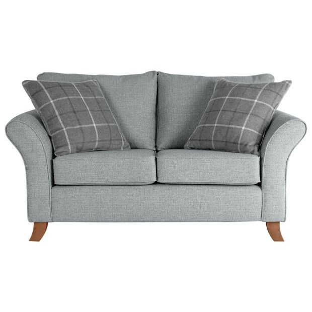 Buy Collection Kayla 2 Seater High Back Fabric Sofa Grey