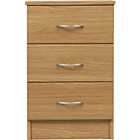 more details on Impressions 3 Drawer Bedside Chest - Oak Effect.
