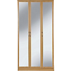 more details on Impressions 3 Door Mirrored Wardrobe - Oak Effect.