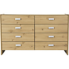 more details on Capella 4+4 Drawer Chest - Pine Effect.