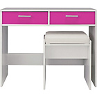 more details on Sywell Dressing Table, Stool and Mirror - Pink and White.