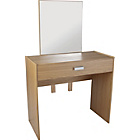 more details on Capella Dressing Table, Stool and Mirror - Oak Effect.