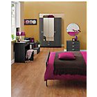 more details on Capella 4 Door 2 Drawer Mirrored Wardrobe- Black Ash Effect.