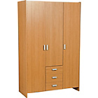 more details on Capella 3 Door 3 Drawer Wardrobe - Oak Effect.