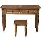 more details on Puerto Rico Dressing Table and Stool - Dark.