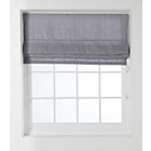 more details on Collection Woven Textured Lined Roman Blind - 6ft - Grey.