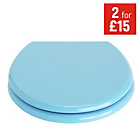 more details on ColourMatch Toilet Seat - Crystal Blue.