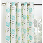 more details on Collection Lola Floral Lined Eyelet Curtains - 117x183cm.