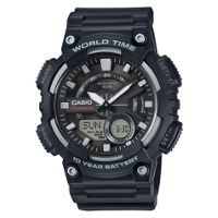 Casio AEQ-110W-1AVEF World Time Telememo Men's Watch (Black)
