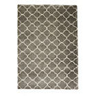 more details on Collection Noble Trellis Shaggy Rug - 160x230cm - Grey.