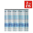 more details on HOME Skinny Stripe Shower Curtain - Blue.