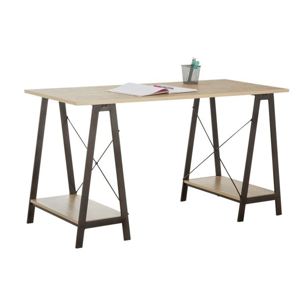 Buy home large trestle table desk at your online shop for desks and workstations Buy home furniture online uk
