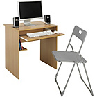 more details on Office Desk and Chair Set - Beech Effect.