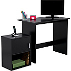 more details on Soho Office Desk and Cabinet Package - Black.
