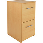 2 Drawer Filing Cabinet - Beech Effect